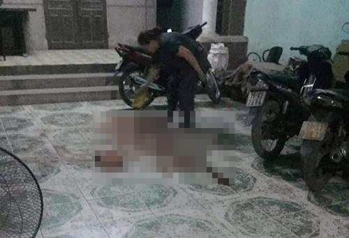 Hiện trường vụ án mạng khiến một người tử vong hôm 5/11 tại huyện Lâm Thao, Phú Thọ. Ảnh:Nguyễn Thắng.