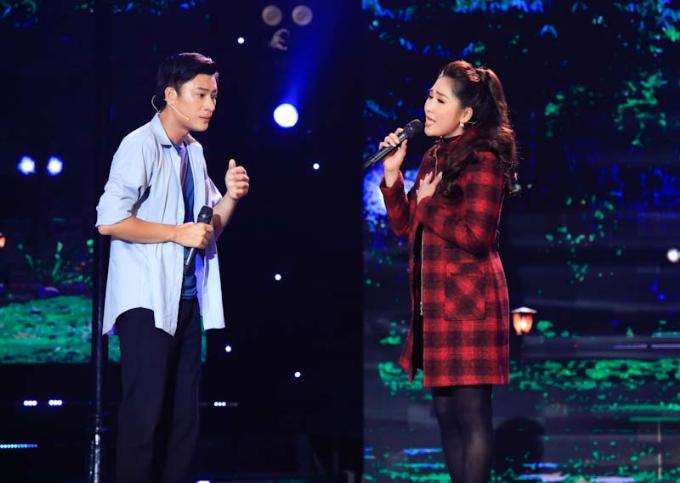 Cặp đôi nghệ sĩ Như Huỳnh  diễn viên Đông Dương tạo nên bất ngờ với tiết mục thú vị.