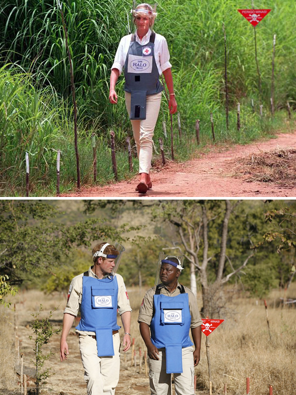 Prince Harry followed his mother in The Halo Trust project to help eliminate the remains of Africa. Photo: UK Press.