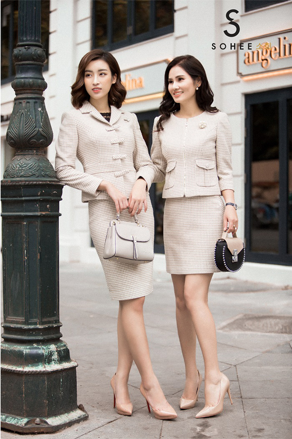 Bộ sưu tập The Twinsdo chính doanh nhân Hà Bùi lên ý tưởng thiết kế. Nữ CEO 8xcho biết, sau chuyến công tác dài ngày ở Pháp, chị đã có cảm hứng sáng tạo cho bộ sưu tập mới từ hình ảnh những phụ nữ Pháp thanh lịch, thời thượng.