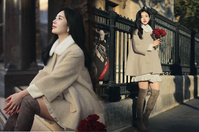 Các mẫu váy ngắn, đầm liền thân chất liệu vải cotton vẫn có thể sử dụng trong ngày se lạnh nếu được phối cùng áo choàng vải bố dày, vải dạ, tweed.