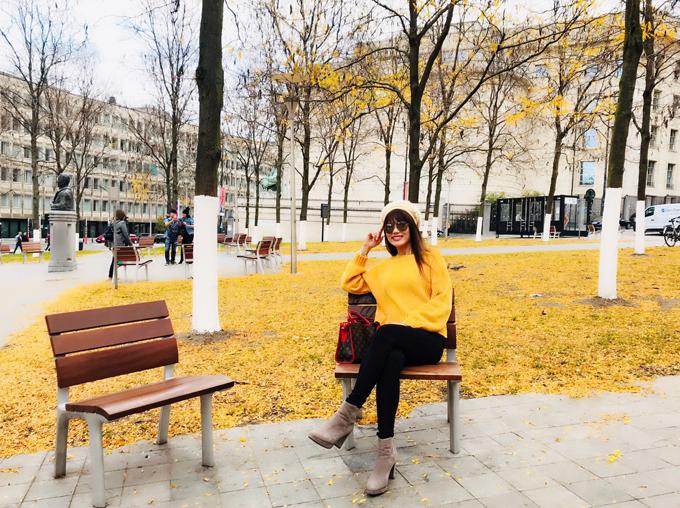 Á khôi Băng Châu mê mẩn cảnh đẹp mùa thu châu Âu - ảnh 2