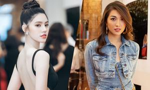 Jolie Nguyễn, Lệ Hằng đối lập phong cách đi event