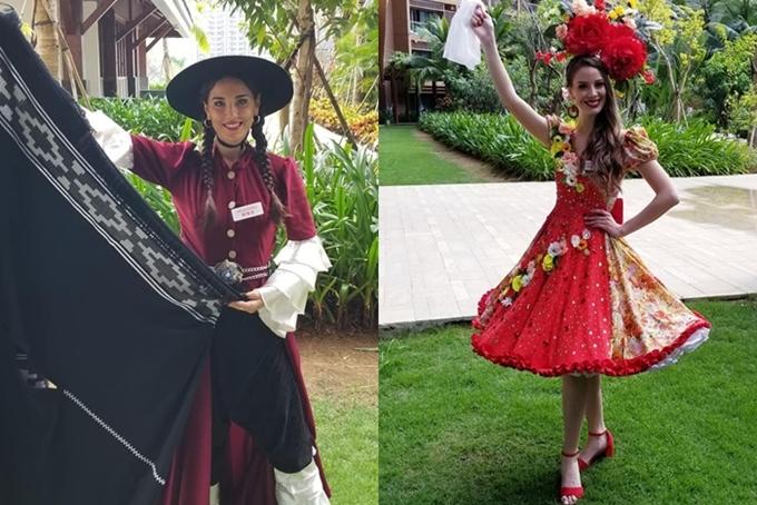 Hoa hậu Argentina và Hoa hậuChile.