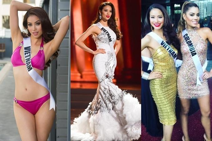 Hai tháng sau đăng quang, Phạm Hương lập tức lên đường sang Las Vegas dự thi Miss Universe. Cô thể