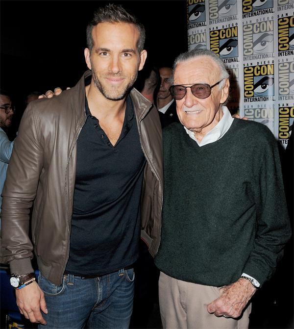 Ryan Reynolds cũng may mắn được hóa thân thành một trong những nhân vật truyện tranh của Stan Lee.