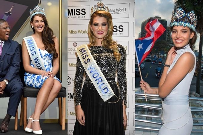 Các Miss World 2014 - 2015 - 2016 đều được tạo điều kiện mang theo vương miện khi trở về quê hương.