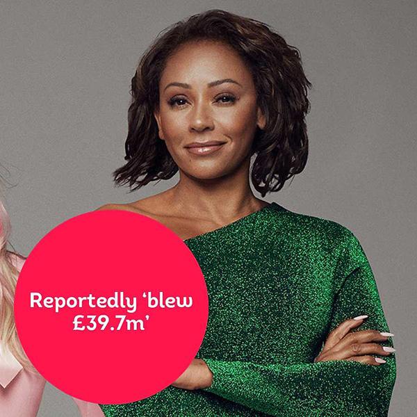 Mel B từng kiếm được hàng chục triệu bảng Anh từ thời Spice Girls nhưng theo thông báo của cô lên tòa án Los Angeles vào năm ngoái khi ly hôn, nữ ca sĩ khẳng định đã tiêu sạch khối tài sản 39,7 triệu bảng vì lối sống xa hoa và trang trải tiền nuôi 3 cô con gái. Tuy nhiên nhiều trang thống kê tài sản cho rằng Mel B vẫn còn khoảng 10 triệu USD (tính cả bất động sản). Nữ ca sĩ 44 tuổi cũng mới nhận thêm cát-xê 1,3 triệu bảng khi làm giám khảo Americas Got Talent 2019. Mel B có lẽ là thành viên khó khăn về tài chính nhất trong nhóm vì phải nuôi chồng con (người chồng cũ - nhà sản xuất phim Stephen Belafonte hầu như thất nghiệp trong suốt 10 năm chung sống) và hiện cô vẫn trợ cấp cho chồng cũ sau khi ly hôn vào năm ngoái.