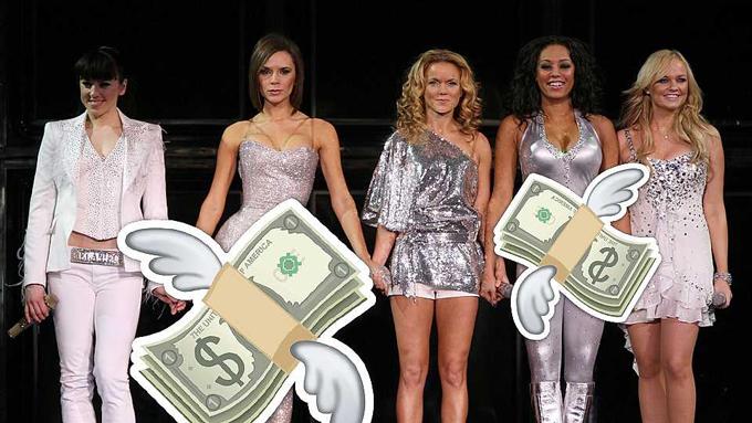 Nhóm Spice Girls vừa thông báo tái hợp và thực hiện chuyến lưu diễn vào tháng 5/2019. Nhiều tin đồn cho rằng những cô gái 7X quyết tâm trở lại sân khấu vì đang cần tiền, đặc biệt là Mel B. Riêng Victoria Beckham từ chối hội ngộ vì cô không còn đam mê âm nhạc và còn bởi lý do: bà xã Beckham đã quá giàu. Vậy khối tài sản riêng của mỗi thành viên hiện tại là bao nhiêu?