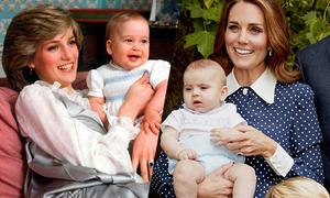 Hoàng tử Louis giống cả bố lẫn mẹ hồi nhỏ