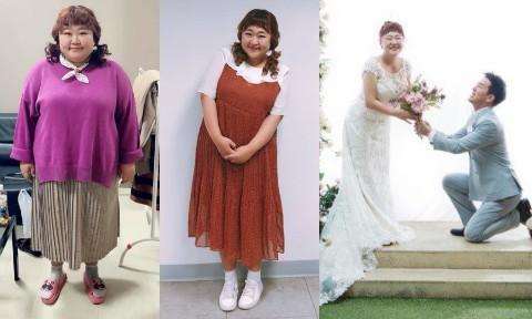 Danh hài 'béo ú' Hàn Quốc tiết lộ cách giảm 30 kg để diện váy cưới
