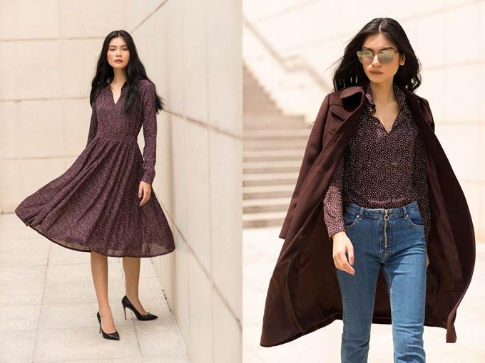 Mùa đông này, Kim Dung ưu ái chọn các mẫu trang phục tông trầm giản dị nhưng không hề đơn điệu.