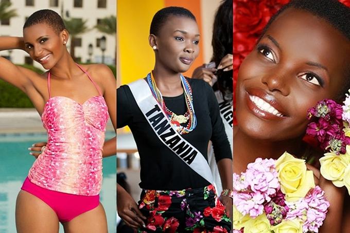 Đất nước Tanzania liên tục có những đại diện sở hữu đầu trọc tại Miss Universe. Trong ảnh là các hoa hậu Tanzania năm 2012,