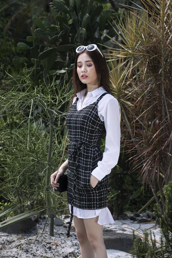Đối với dòng thời trang công sở, nhà mốt Việt tập trung khai thác các kiểu trang phục nhiều layer và dễ dàng phối đồ để tránh sự nhàm chán.