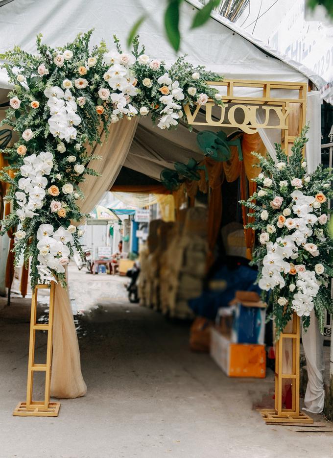 Không gian lễ vu quy ngập sắc trắng của Hoa hậu Đại dương