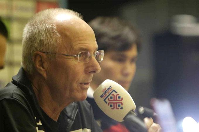 Ông Eriksson muốn các học trò nỗ lực trước trận bán kết.