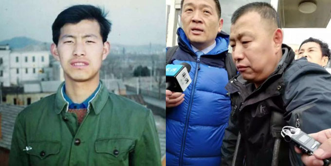 Ông Jin Zhehong trước khi ngồi tù (trái) và hiên tại (phải) sau 23 năm ngồi tù. Ảnh: Shanghaiist.