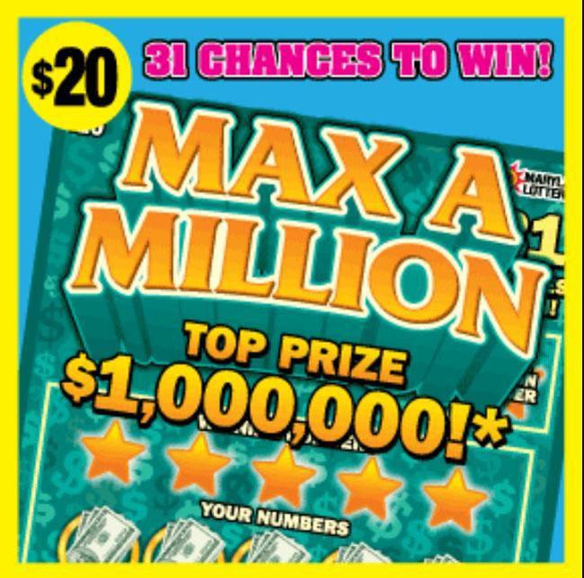 Giải thưởng xổ số Max A Million. Ảnh: UPI.