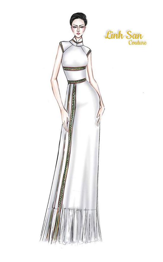 Áo dài của HHen Niê được tạp chí Thái Lan chú ý - 2