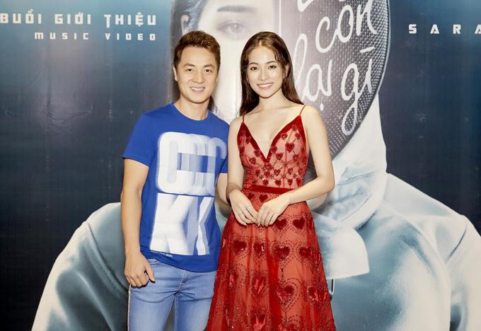 Ca sĩ Đăng Khôi tới chung vui với Sara Lưu.