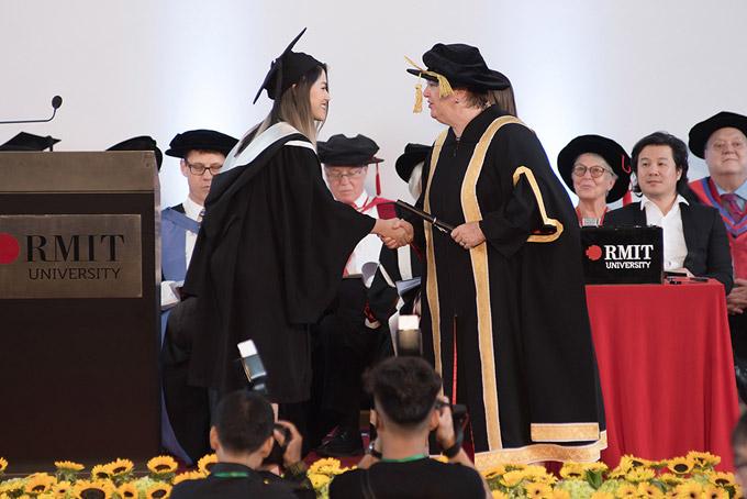 Ngọc Thanh Tâm chia sẻ, cô từng nhận được học bổngvào 4 trường đại học danh tiếng của Mỹ, trong đó có trường Đại học nghệ thuật Emerson. Tuy nhiên vì muốn theo đuổi đam mê diễn xuất ở trong nước nên cô đã chọn trường RMIT.
