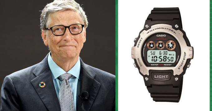 Bill Gates đeo chiếc đồng hồ vài trăm nghìn đồng. Ảnh: CNBC.