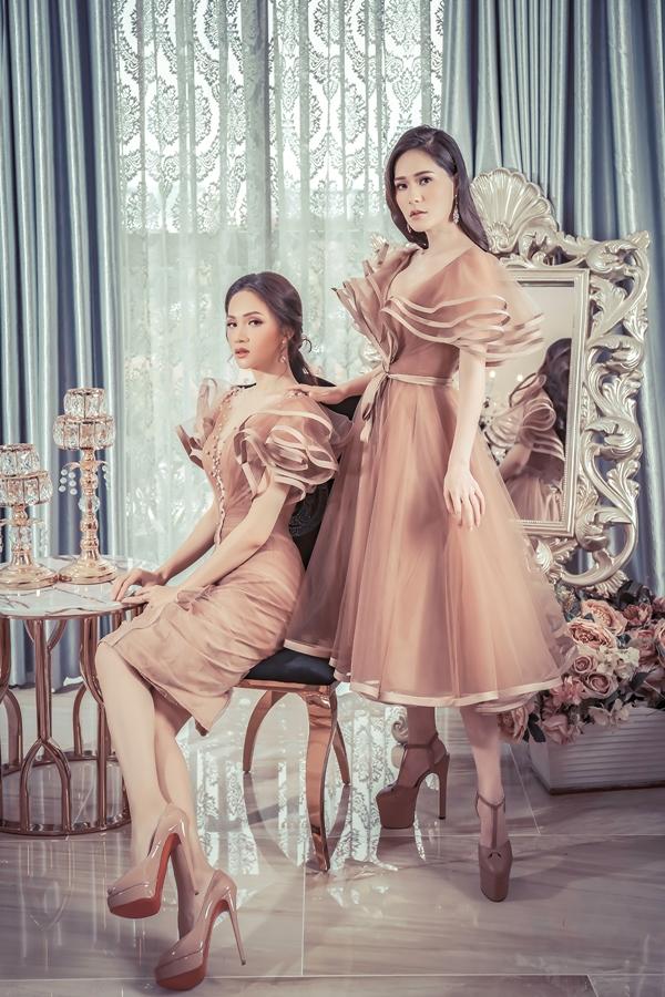 Hương Giang, Băng Di đọ dáng với váy họa tiết 3D - 4