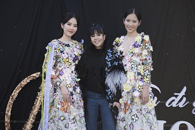Nam Em - Nam Anh tới làm khách mời kiêm người mẫu biểu diễn trong show thời trang của nhà thiết kế Hằng Nguyễn.