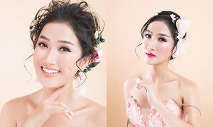 Quỳnh Lam gợi ý ba kiểu trang điểm tông hồng cho cô dâu