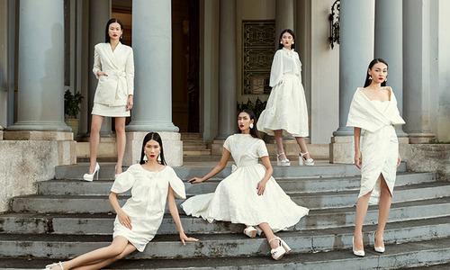 5 chân dài đua sắc với váy trắng của Vũ Ngọc và Son