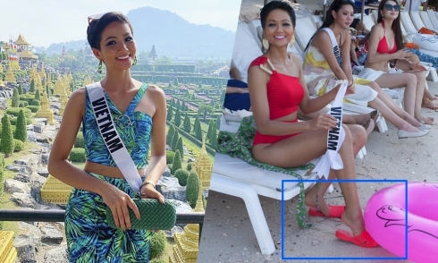 """H""""Hen Niê mang dép tổ ong đi thi Miss Universe"""