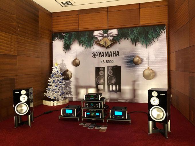 Cặp loa Yamaha NS-5000 có giá hơn ba trăm triệu đồng được phối ghép với hệ thống tương xứng thương hiệuMcInstosh