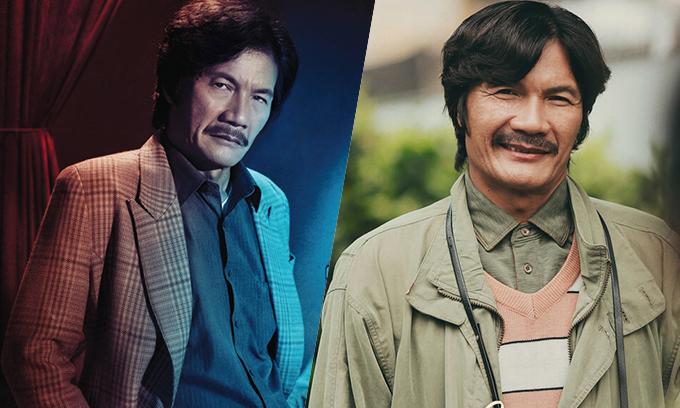 Tạo hình của NSƯT trong phim Ống kính sát nhân (trái) và Nhắm mắt thấy mùa hè (phải).