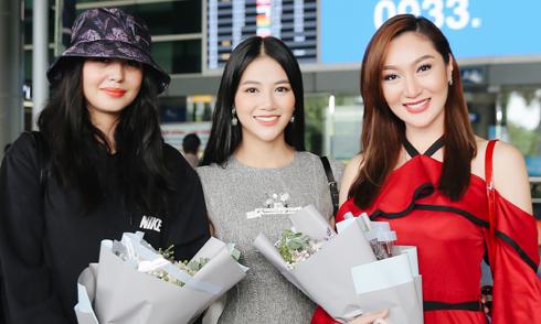 Phương Khánh ra sân bay đón Hoa hậu Trái đất 2017