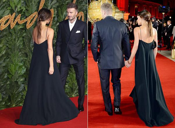 Becks ga lăng chăm sóc vợ tận tình trên thảm đỏ lễ trao giải.