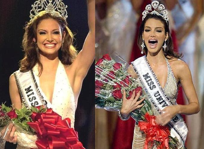 Tại Miss Universe (Hoa hậu Hoàn vũ), Puerto Rico đã đăng quang 5 lần vào các năm 1970, 1985, 1993, 2001, 2006 và là quốc gia thứ ba có nhiều Hoa hậu Hoàn vũ nhất (sau Mỹ và Venezuela). Trong ảnh là hoa hậu Denise Quinones năm 2011 (bên trái) và Zuleyka Rivera năm 2006. Zuleyka sau này trở nên nổi tiếng hơn khi đóng trong MV Despacito của Luis Fonsi và Daddy Yankee. Hình ảnh nóng bỏng của hoa hậu hoàn vũ cùng giai điệu cuốn hút đã giúp Despacito trở thành MV nhiều người xem nhất trên Youtube với 5,7 tỷ view.