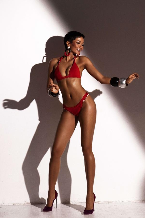 HHen Niê khoe vóc dáng với bikini trước bán kết Miss Universe - 8