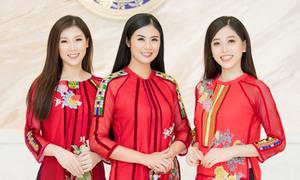 Hoa hậu Phí Thùy Linh, Á hậu Phương Nga diện thiết kế của Ngọc Hân