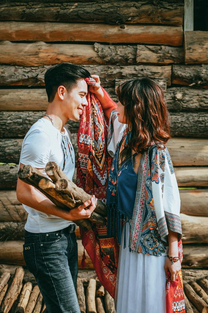 Uyên ương hóa thân thành dân du mục trong ảnh cưới
