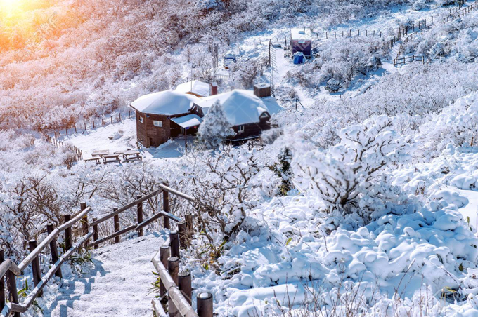 Khu resort Muju mở cửa quanh nămnhưng đông khách nhất từ tháng 11 đến tháng 3 năm sau. Cơ sở vật chất hoành tráng dành cho các môn thể thao tuyết, bao gồm 30 đường trượt và 14 cáp treo lên hai đỉnh có độ cao 465 m.