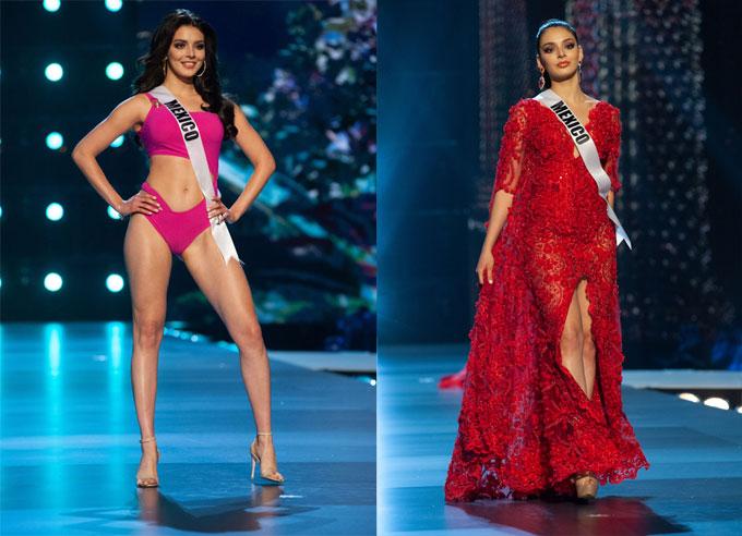 Người đẹp Mexico, Andrea Toscano là đối thủ nổi bật đến từ châu Mỹ. Cô có gương mặt xinh đẹp, làn da trắng sứ cuốn hút và phong cách tự tin. Trong đêm bán kết, Andrea như nữ hoàng khi diện bộ đầm đỏ sải bước trên sàn catwalk. Người hâm mộ quê nhà đang rất kỳ vọng Andrea sẽ mang về vương miện Miss Universe sau khi đồng hương của cô vừa chiến thắng Miss World 2018.