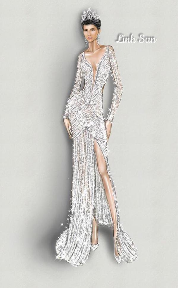 Váy đính 3000 viên đá quý của HHen Niê tại chung kết Miss Universe - 2
