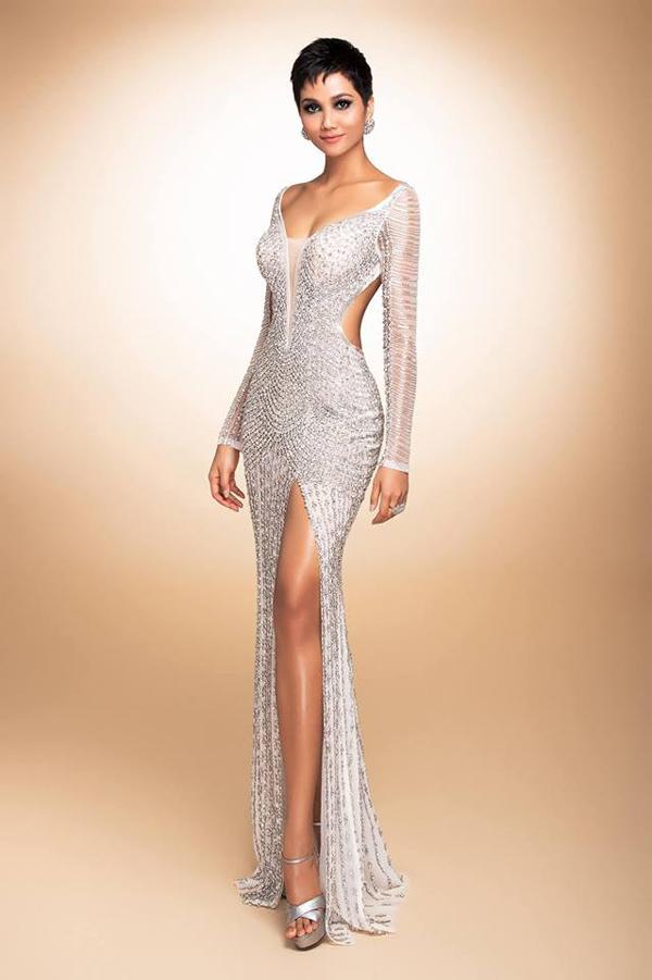 Váy đính 3000 viên đá quý của HHen Niê tại chung kết Miss Universe - 5