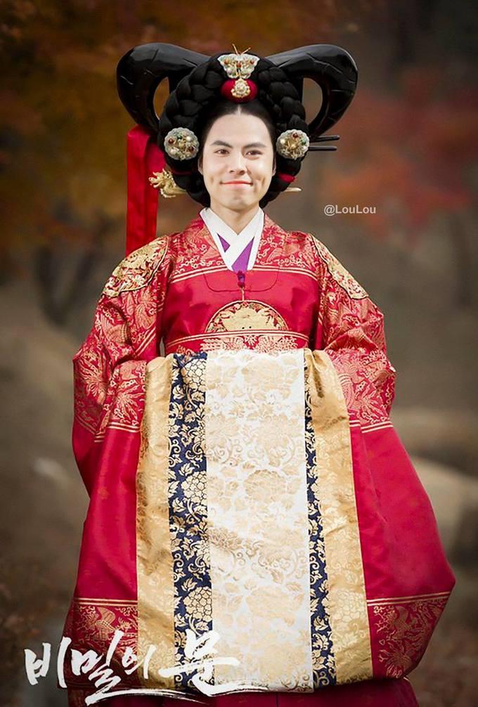 Ảnh chế HLV Park và học trò hóa mỹ nhân Hàn Quốc