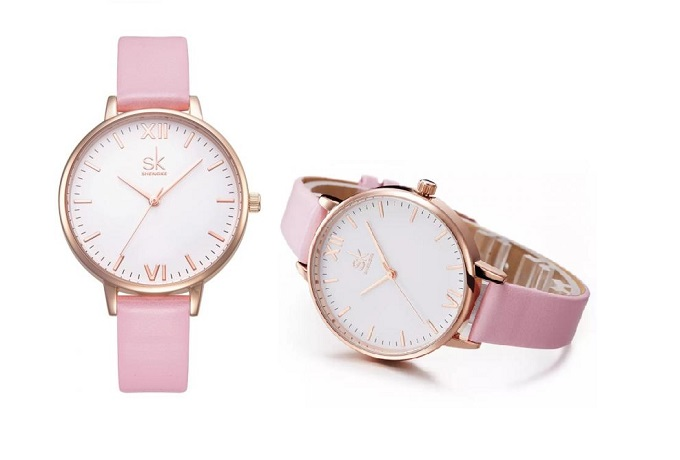 Đồng hồ nữ chính hãng Shengke Korea K0039L-01 - Hồng nhạt