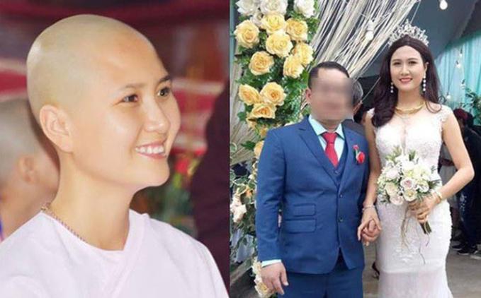 Nguyễn Thị Hà - thí sinh có mái tóc đẹp nhất tại cuộc thi Hoa hậu Việt Nam 2014 bất ngờ lấy chồng sau hơn 2 tháng tuyên bố đi tu. Hình ảnh được lan truyền nhiều trên mạng xã hội khiến nhiều người bất ngờ.