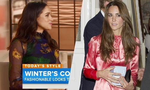Kate và Meghan đều diện váy cũ tới dự tiệc Giáng sinh của Nữ hoàng