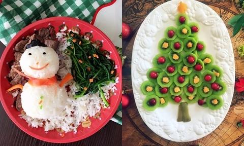 Mẹ 9X trang trí bữa cơm Giáng sinh bằng nguyên liệu đơn giản