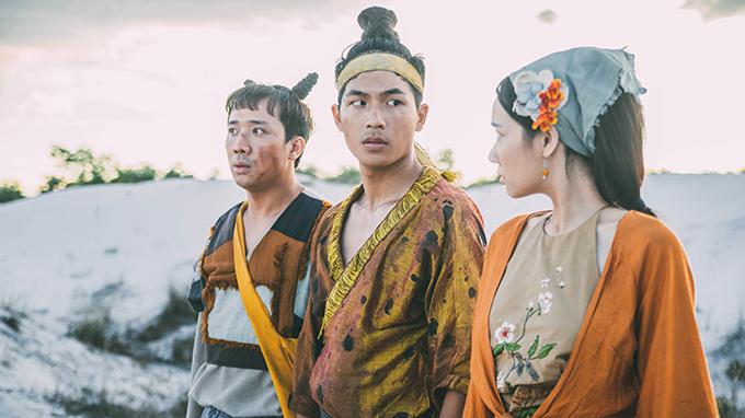 Bộ ba Xẩm, Quỳnh và Điềm của phim.