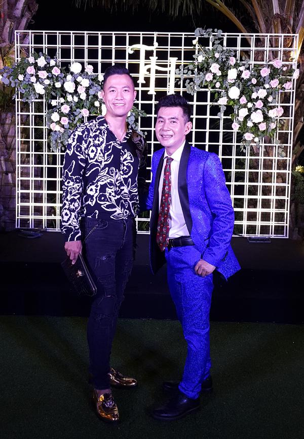 Ca sĩ Đoan Trường lịch lãm bên siêu mẫu Quang Hòa.